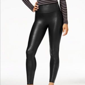 Spanx faux black leggings (Petite) ONLY ONE LEFT!